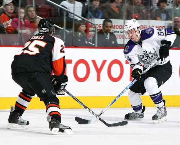LA Kings winger Teddy Purcell (right). Photo courtesy Los Angeles Kings/National Hockey League.
