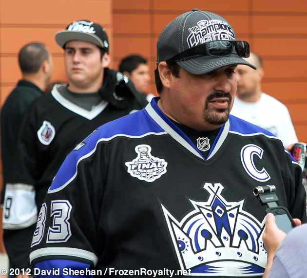 """a77b57ce8 Billy Lyttle started following the LA Kings in 1990. (click to view larger  image) Photo  David Sheehan FrozenRoyalty.net """" ..."""