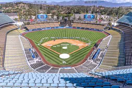 View from the Vin Scully Press Box