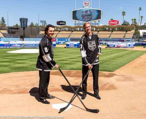 LA Kings Drew Doughty (left) and Jeff Carter (right)