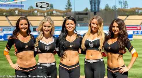 LA Kings Ice Crew and Anaheim Ducks Power Players