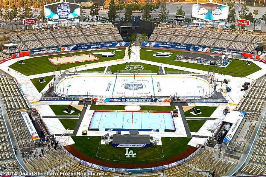 View from the top deck at Dodger Stadium