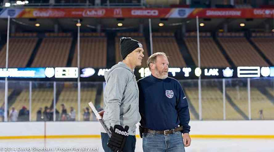 Luc Robitaille with NHL Ice Making Guru Dan Craig