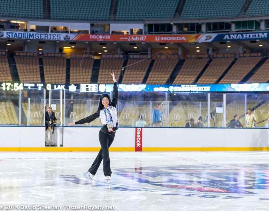 LAKings.com writer, and former LA Kings Ice Crew Captain Deborah Lew