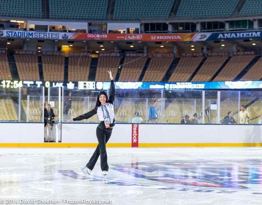 LAKings.com writer, and former LA Kings Ice Crew Captain Deborah Lew
