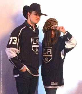 Right wing Tyler Toffoli with a fan
