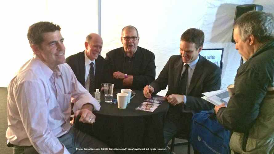 From left: Sean O'Donell, Pete Demers, Ian Turnbull and Luc Robitaille
