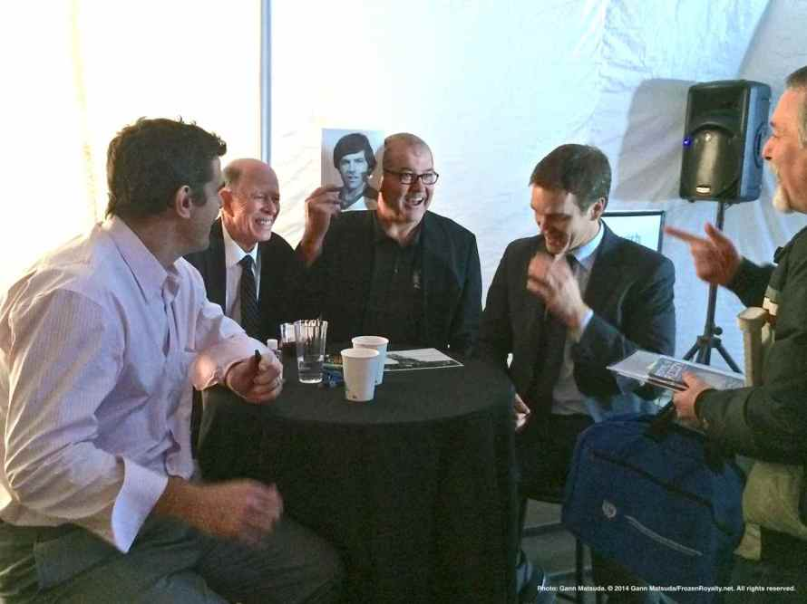 From left: Sean O'Donell, Pete Demers, Ian Turnbull and Luc Robitaille.
