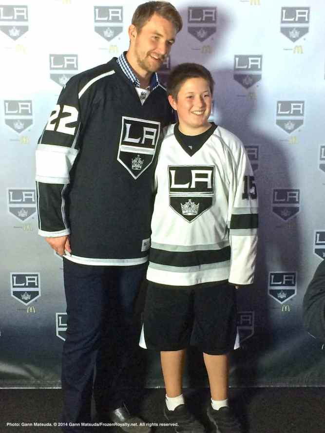 Forward Trevor Lewis with a fan
