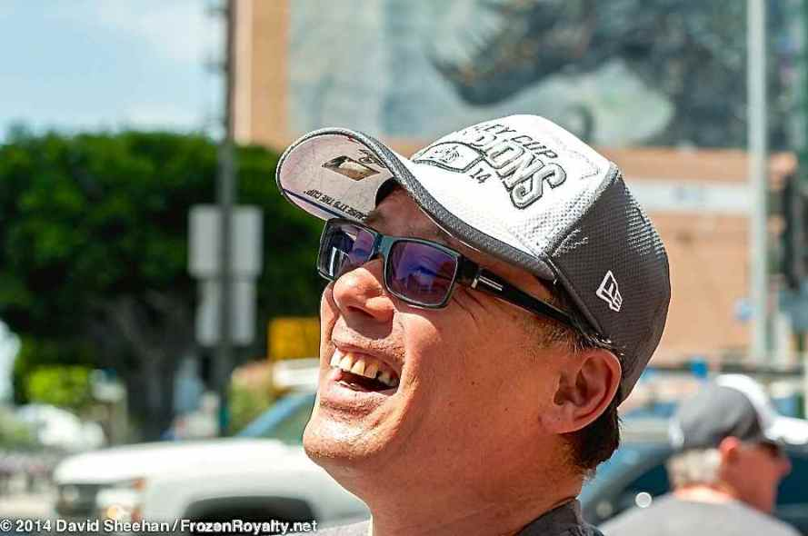 LA Kings fan Greg Akahoshi