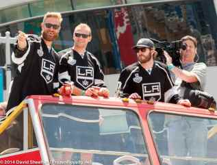 From left: forwards Jeff Carter, Marian Gaborik and Mike Richards
