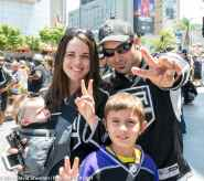LA Kings fans Kelly and Jeremiah Brown and family