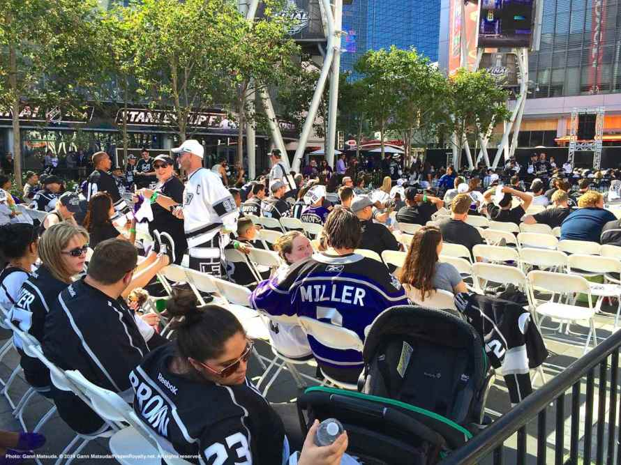 Fans are settling in prior to the start of the game