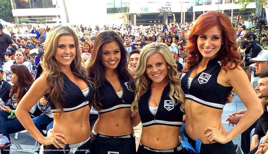 Some of the members of the LA Kings Ice Crew