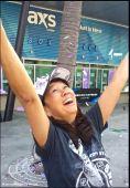 """Confetti raining down on me-we are the champions!"" Photo courtesy Alice Kikuchi"