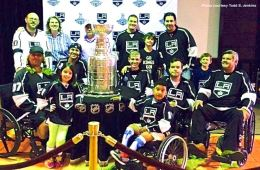 The LA Kings Sled Hockey Team. Photo courtesy Todd S. Jenkins